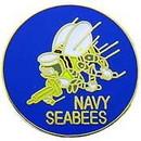 Eagle Emblems P14736 Pin-Usn, Seabees (1