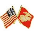 Eagle Emblems P14810 Pin-Usmc, Flag, Usa/Usmc, Sm (1
