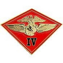Eagle Emblems P14817 Pin-Usmc, 004Th Mc Wing (1-1/8