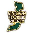 Eagle Emblems P14863 Pin-Viet, Map, My Son Serv. (1