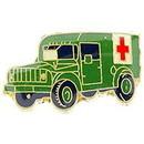 Eagle Emblems P14865 Pin-Ambulance, Milt (1