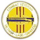 Eagle Emblems P14866 Pin-Viet, Combat Vet, Cib Viet, Laos, Camb. (1