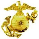 Eagle Emblems P14877 Pin-Usmc, Emblem, Left Medium-Gold (1-3/8
