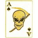 Eagle Emblems P14897 Pin-Death Ace, Spade (7/8