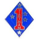 Eagle Emblems P14919 Pin-Viet, 001St Mc Div. (1-1/8
