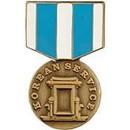 Eagle Emblems P14929 Pin-Medal, Korean Service (1-3/16