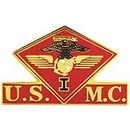 Eagle Emblems P15016 Pin-Usmc, 001St Mc Wing (1-3/8