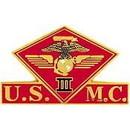 Eagle Emblems P15018 Pin-Usmc, 003Rd Mc Wing (1-3/8