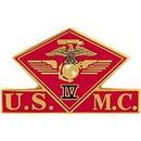 Eagle Emblems P15019 Pin-Usmc, 004Th Mc Wing (1-3/8