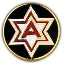 Eagle Emblems P15045 Pin-Army, 006Th (1