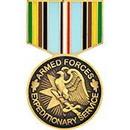 Eagle Emblems P15054 Pin-Medal, Armed Force.Exp (1-3/16