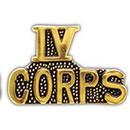 Eagle Emblems P15073 Pin-Viet, Scr, Iv Corps (1