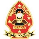Eagle Emblems P15165 Pin-Usmc, 002Nd Recon Mar. (1