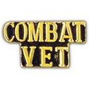 Eagle Emblems P15178 Pin-Script, Combat Vet (1