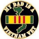 Eagle Emblems P15284 Pin-Viet, My Dad Is Viet V (1