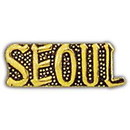Eagle Emblems P15299 Pin-Korea, Scr, Seoul (1