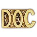 Eagle Emblems P15338 Pin-Script, Doc (1