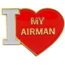 Eagle Emblems P15341 Pin-Usaf, I Heart My Airman (1