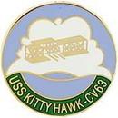 Eagle Emblems P15419 Pin-Uss, Kitty Hawk (1