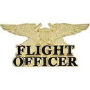 Eagle Emblems P15461 Wing-Usn, Flight Off.Gold (Mini) (1-1/4