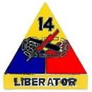 Eagle Emblems P15523 Pin-Army, 014Th Arm.Div. (1