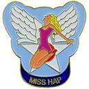 Eagle Emblems P15537 Pin-Nose, Miss Hap (1
