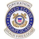 Eagle Emblems P15567 Pin-Iraqi Freed, Uscg Logo (1-1/16