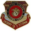 Eagle Emblems P15575 Pin-Dest.Storm, Usmc, Map (1