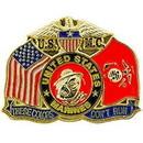 Eagle Emblems P15661 Pin-Usmc, Devil Dog, These Colors (1-1/8