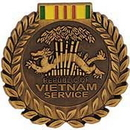 Eagle Emblems P15664 Pin-Medal, Viet, Svc.Ii (1-1/16