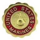 Eagle Emblems P15742 Pin-Usmc Logo, Marines (3/4