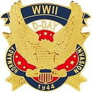 Eagle Emblems P15784 Pin-Wwii, Normandy (1