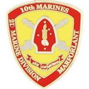 Eagle Emblems P15798 Pin-Usmc, 010Th Rgt. (1