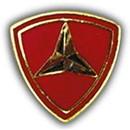 Eagle Emblems P15833 Pin-Usmc, 003Rd Div. (Mini) (5/8