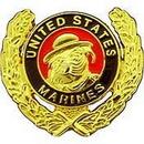 Eagle Emblems P15842 Pin-Usmc, Bulldog, Wreath (1-3/16
