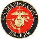 Eagle Emblems P15946 Pin-Usmc, Sniper (1