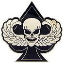 Eagle Emblems P16127 Pin-Skull, Death Spade (1-3/4