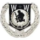 Eagle Emblems P16223 Pin-Wounded Warrior Wreath (1-1/2