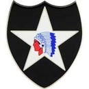 Eagle Emblems P16283 Pin-Army, 002Nd Inf.Div. (1-1/2