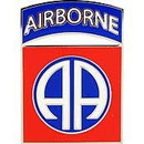 Eagle Emblems P16286 Pin-Army, 082Nd A/B Div. (1-1/2
