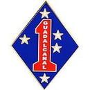 Eagle Emblems P16293 Pin-Usmc, 001St Div. (1-1/2