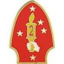 Eagle Emblems P16294 Pin-Usmc, 002Nd Div. (1-1/2