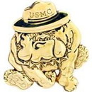 Eagle Emblems P16297 Pin-Usmc, Bulldog, 3D (1-1/2