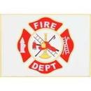 Eagle Emblems P16299 Pin-Fire Dept, Flag (1-1/2