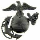 Eagle Emblems P16360 Pin-Usmc, Emblem, E3, Left Cap-Subdued (1-3/4
