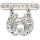 Eagle Emblems P16370 Bdg-Usmc, Pistol, Expert (1-7/16