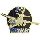 Eagle Emblems P18039 Pin-Apl, S-3 Viking, Top-Lf (1-1/2