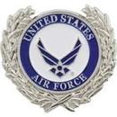 Eagle Emblems P18054 Pin-Usaf Symbol Wreath (1-1/8