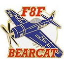 Eagle Emblems P18092 Pin-Apl, F-008F Bearcat (1-1/2