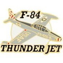 Eagle Emblems P18104 Pin-Apl, F-084 Thunderjet (Right) (1-1/2